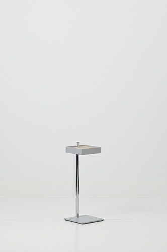 pedestal ashtray / stainless steel / for outdoor use / for public buildings