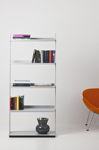shelf on casters / contemporary / metal / commercial