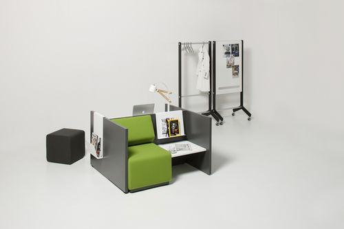 contemporary visitor armchair / polyurethane