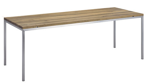 contemporary table / solid wood / oiled wood / waxed wood