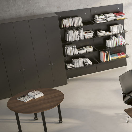 modular bookcase / wall-mounted / contemporary / commercial