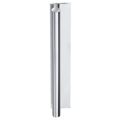 glass door pull handle / aluminum / contemporary / chrome