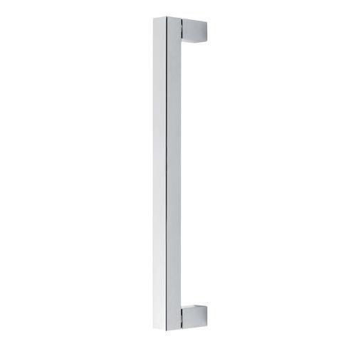 door pull handle / anodized aluminum / contemporary / chrome