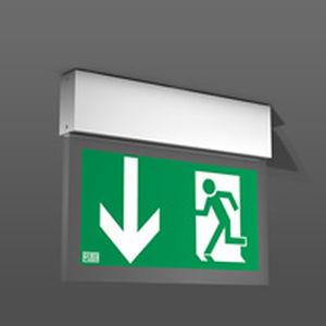 ceiling emergency light / rectangular / LED / extruded aluminum