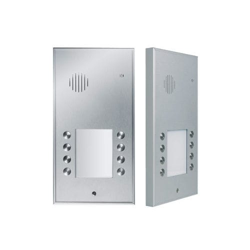 metal door intercom system / white