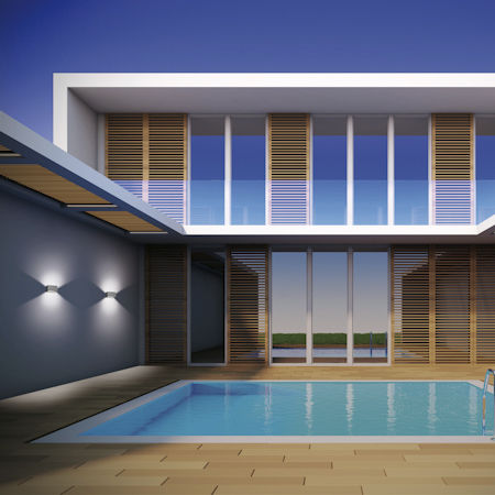 contemporary wall light / garden / cast aluminum / LED