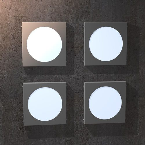 contemporary wall light / outdoor / stainless steel / acrylic glass
