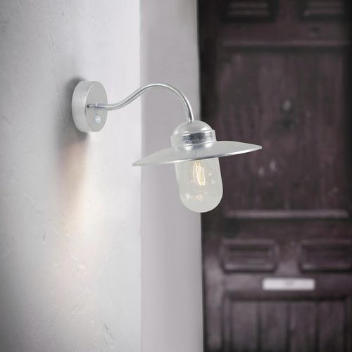traditional wall light / outdoor / galvanized steel / LED