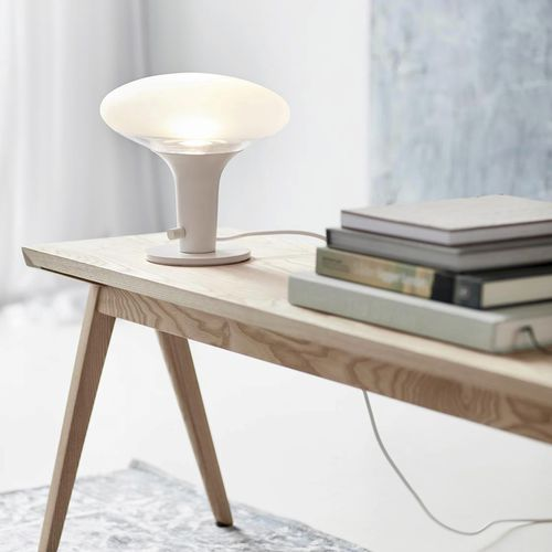 table lamp / contemporary / frosted glass / dimmable