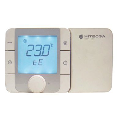 wall-mounted heating controller / for heating and cooling / for heat pumps