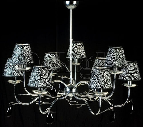traditional chandelier / metal / fabric / commercial