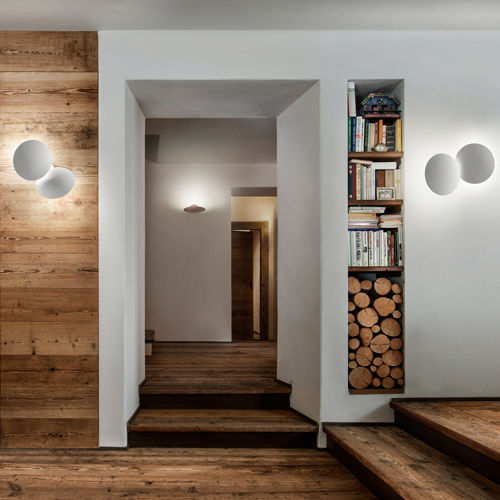 contemporary wall light / metal / LED