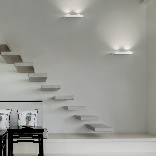 contemporary wall light / crystal / metal / LED