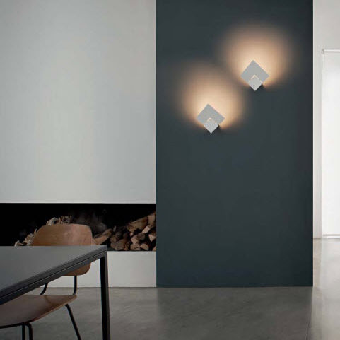 contemporary wall light / metal / LED / dimmable