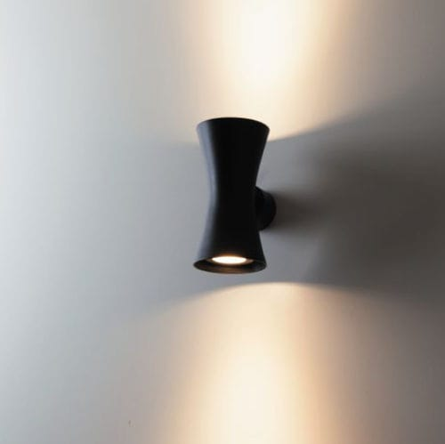 contemporary wall light / aluminum / halogen / round