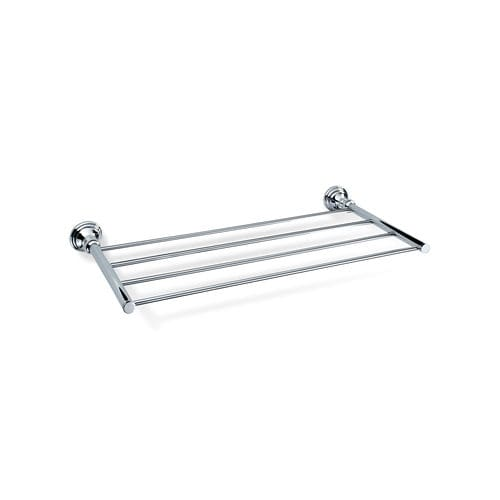 wall-mounted shelf / traditional / chrome-plated brass / gold-plated brass