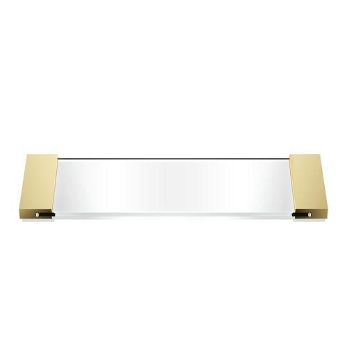 chromed metal serving tray