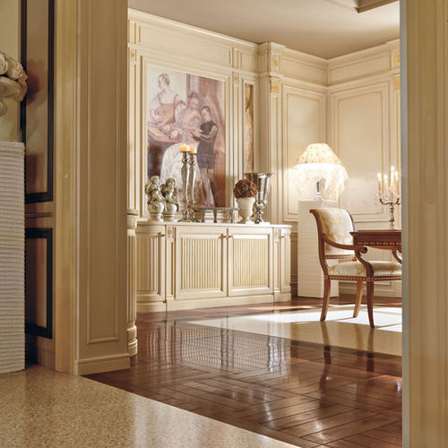 traditional sideboard / lacquered wood / white