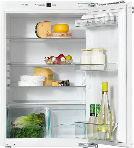 compact refrigerator / white / built-in
