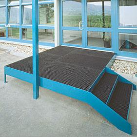 entrance mat for public buildings / rubber / ring