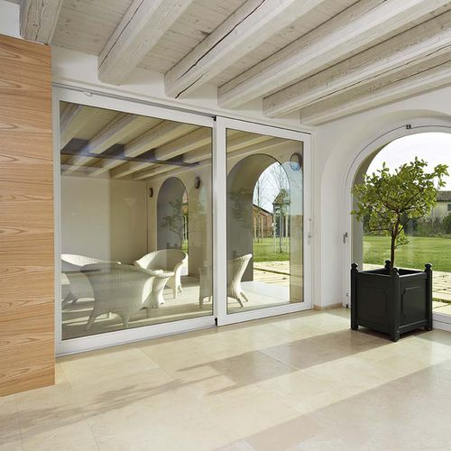 sliding patio door / wooden / double-glazed / thermally-insulated