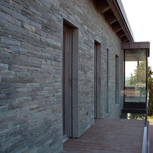 stone wall cladding / exterior / textured / natural finish