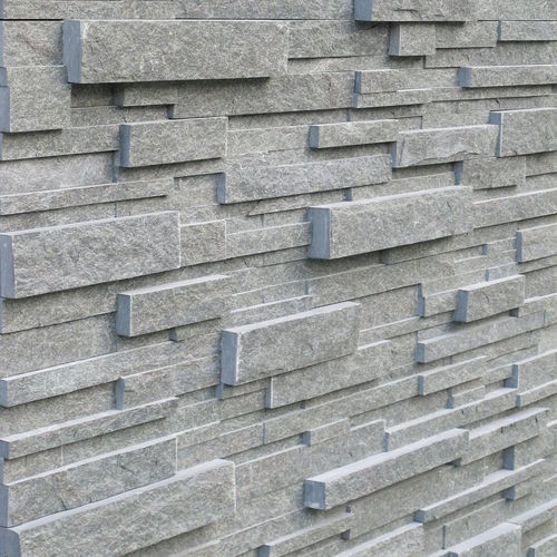 stone wall cladding panel / outdoor / natural / gray