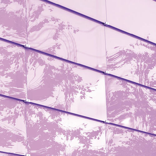 panel curtain wall / glass / ventilated
