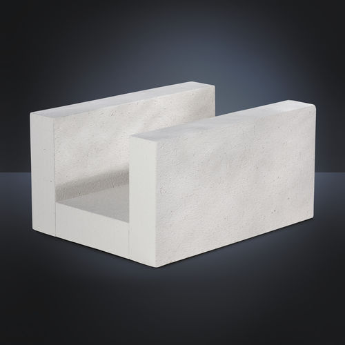 lightweight concrete concrete tie block / reinforced / thermal break / horizontal