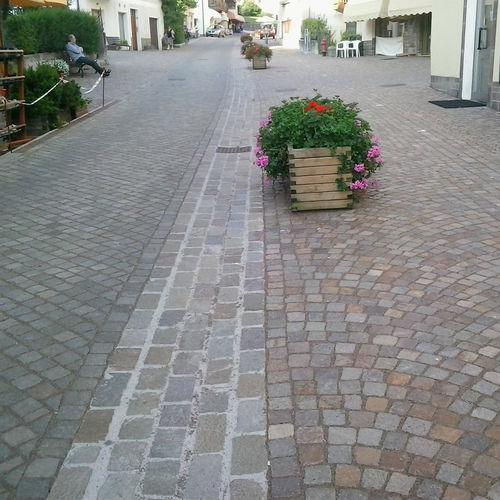 stone paver / pedestrian / textured / garden