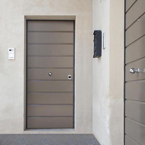 entry door / swing / MDF / steel