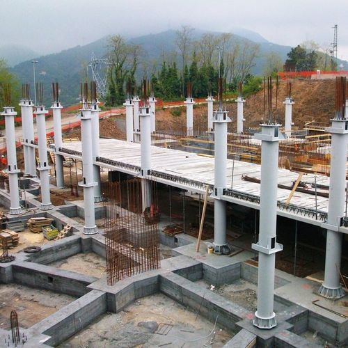 concrete prefabricated pillar / steel / round / rectangular