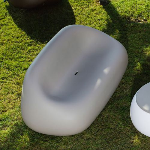 original design sofa / garden / polyethylene / 2-person