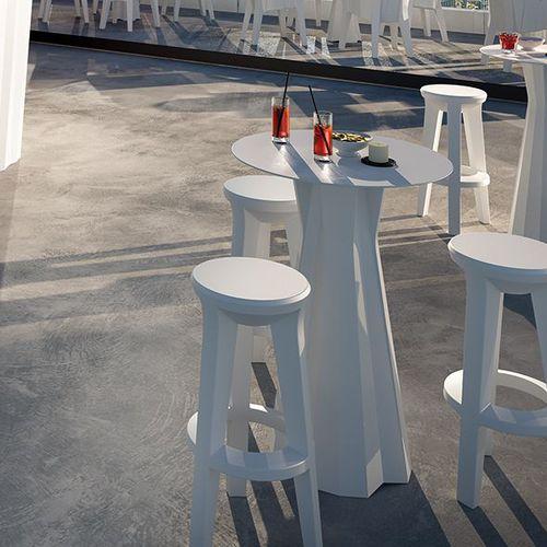 contemporary high bar table / HPL / polyethylene / round
