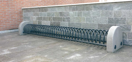 stainless steel bike rack / for public spaces