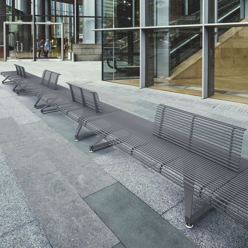 public bench / contemporary / steel / aluminum