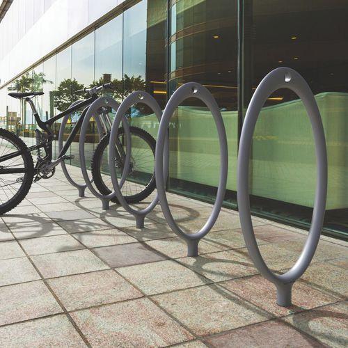 aluminium bike rack / for public spaces