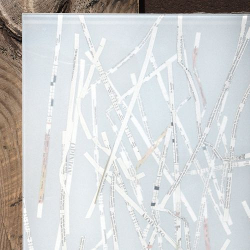 laminated glass panel / tempered / patterned / for partition walls