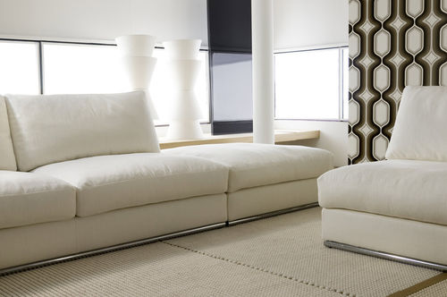 contemporary sofa / 2-person / with storage compartment / with removable cover