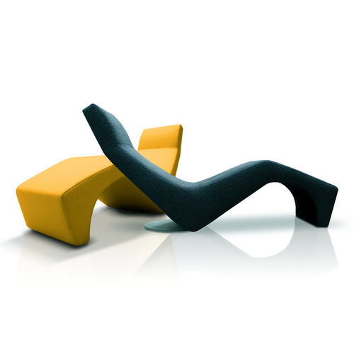 contemporary chaise longue / coated foam / contract