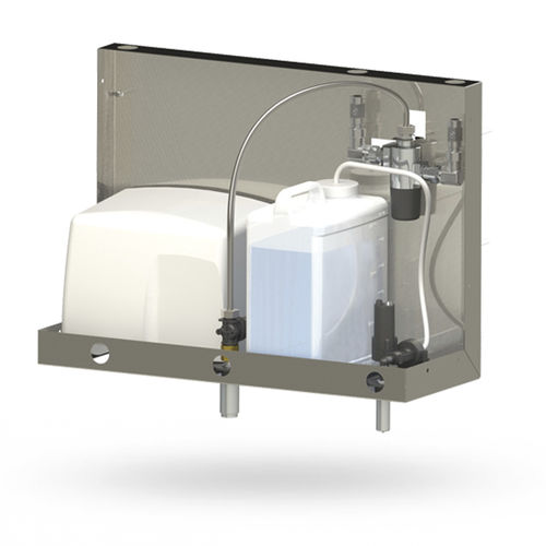 commercial soap dispenser / wall-mounted / stainless steel / electronic