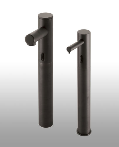 commercial soap dispenser / free-standing / metal / electronic