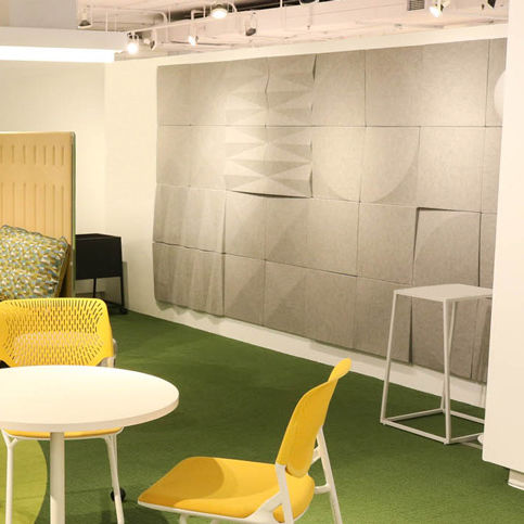 wall-mounted acoustic panel / felt / polyester / high-performance