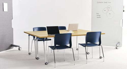 contemporary work table / laminate / rectangular / for public buildings