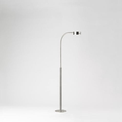 floor lamp / contemporary / stainless steel / height-adjustable