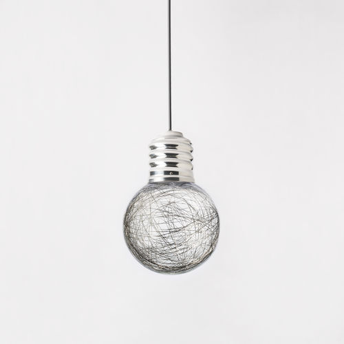 portable lamp / contemporary / polished aluminum / polyethylene