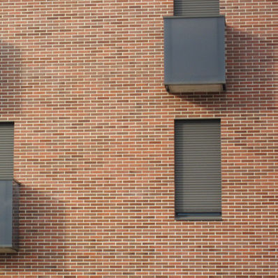 clinker cladding brick / for facade / red