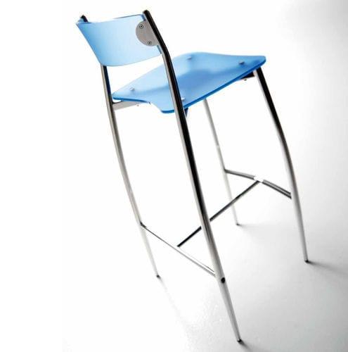 Wondrous Contemporary Bar Chair Stackable Beech Walnut Baba Theyellowbook Wood Chair Design Ideas Theyellowbookinfo