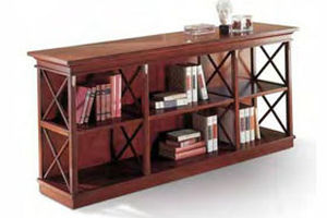 low bookcase / contemporary / wooden