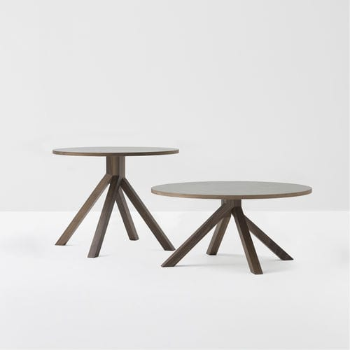 contemporary coffee table / walnut / lacquered wood / beech